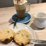 Fab festive gingerbread latte today!  A warm welcome as ever and a welcome quiet spot in which t