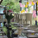 Day time birthday party set up