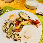 One of the benefits of the Sunday Brunch --seafood!