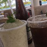 Try the frozen mojito and a michelada!