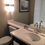Modern bathroom with nice deeper soaker tub.