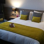 Comfy bed and complementary sleeping potions at Crowne Plaza, Liverpool.