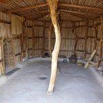 Inside recreated Hut