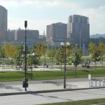 The view of Smale park on Riverwalk