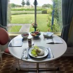 The cottages are self-catering, and you dine with this peaceful outlook!
