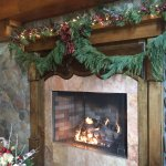 Fireplace at check-in
