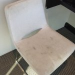 Stains on chair, hairdryer sticky, two single beds pushed together, poorly positioned reading li