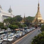 Beautiful pagoda and historic town-hall