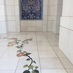 Inlaid white marble and mosaic