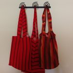 Ngorongoro Rhino Lodge - Maasai bags for hot water bottles hanging in bathroom