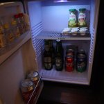 Free softdrink and juice at the minibar