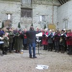 local choirs in the barn at the weekend