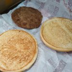 This is what McDonalds at EZE served when I ordered a Hamburger