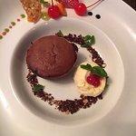 Chocolate Sufle with ice cream