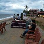 Pani poori on the beach