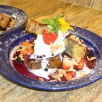 Bluefish Bed & Breakfast housemade organic strawberry bread french toast