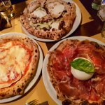 A selection of pizzas
