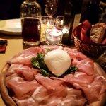 Mozarella di Bufala with ham
