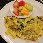 vegetarian omelette special - huge!
