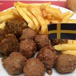 Polpette e patatine e... bandiera
