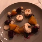 Wonderful beet and shrimp salad