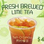 Fresh lime tea