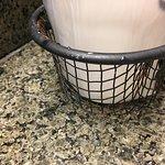 rusty bathroom basket