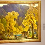 Fantastic postImpressionist style painting by Rudolph Ingerle