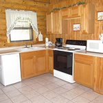 Two of our cabins have a full kitchen.