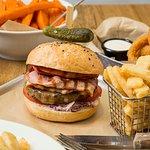 Classic bacon cheese burger