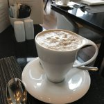 My hot coffee latte.....