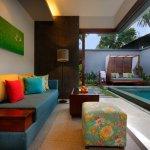 Living room of a One Bedroom Pool Villa