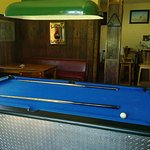 Pool table in our bar.