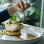 Perch file from the Danube River with cauliflower couscous