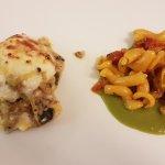Lasagnetta gratinata e maccherocino al torchio