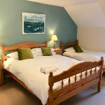 Family room - sleep 2 adults + 2 children - double bed and 2 singles