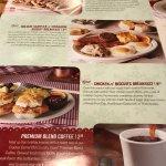 Cracker Barrel Holiday Delights menu