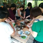 Kneading dough with hand is soothing moments to our guests