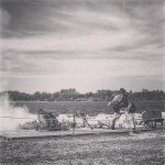 Old Fort Jackson small cannon firing