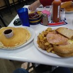 The massive Breakfast platter. More than I could eat!!!