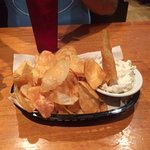 Home made chips & dip, delicious