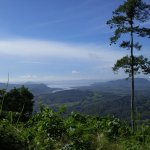 View of the Pacific Ocean from the top of a mountain on the Monkey Tour