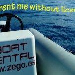Enjoy the beautiful blue Atlantic Ocean with self drive boat