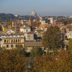 View over the Trastevere neighborhood from Testaccio Hill.