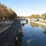 Trastevere River, near the hotel.