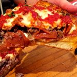 Deep dish with all the meat ingredients you would want