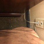 suciedad de restos entre las camas y suciedad en las colchas