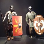 Roman soldiers at the entrance to the exhibit