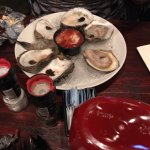Menu and oysters