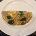 My cheese and spinach omelette.